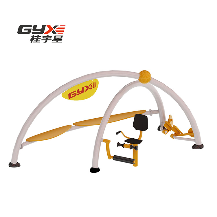 The Disabled  Exercise Machine Wooden Stainless Steel Outdoor Fitness Equipment